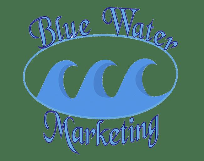 old blue water marketing logo