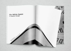 Example of proper use of white space. Good design trend.