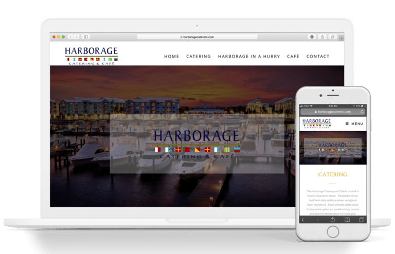 harborage website design mockup