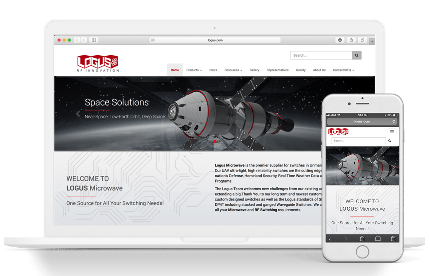 logus manufacturing website design