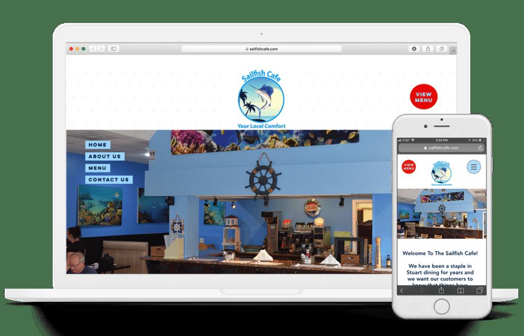 sailfish cafe website design