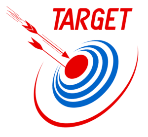 picture of a target & arrows