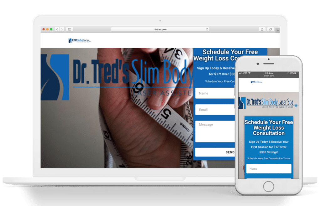 Dr. Tred's Slim Body Laser Spa Website Design & Mockup