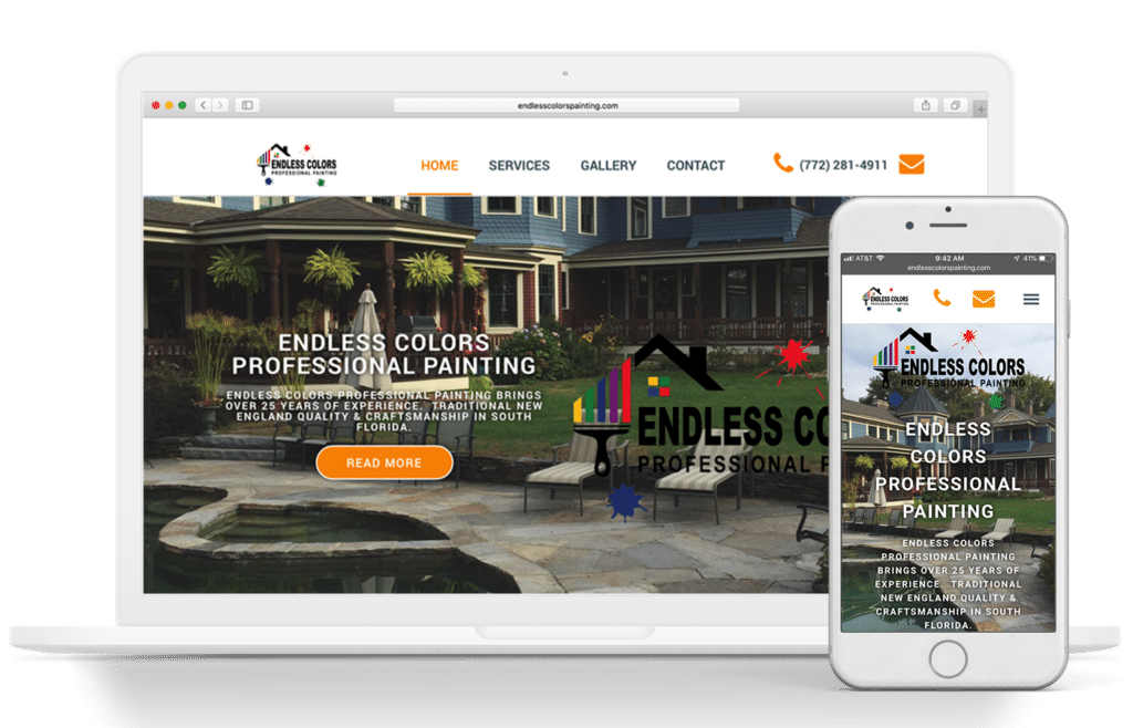 endless colors painting webdesign by blue water marketing