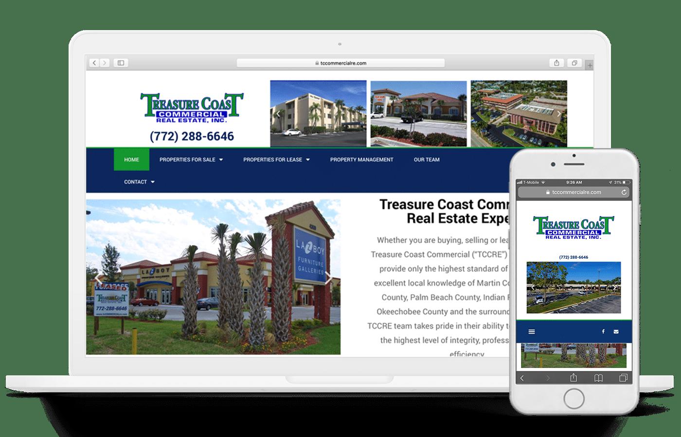 treasure coast commercial website design and marketing example