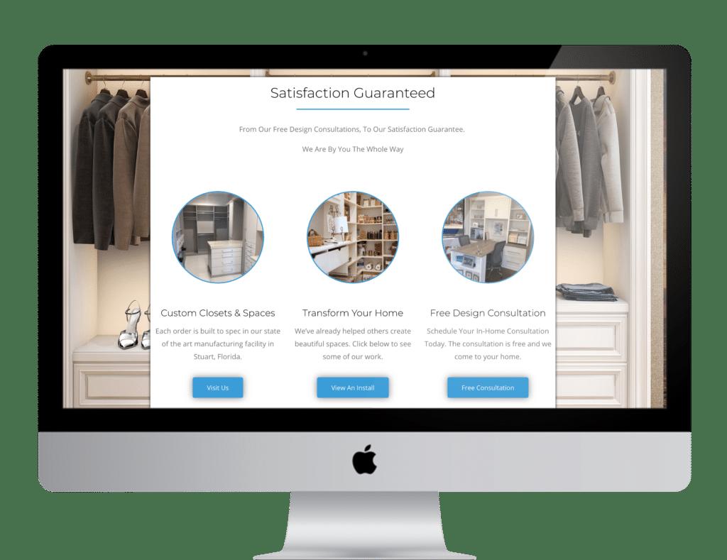 Coastal Closets Web Design Section 2