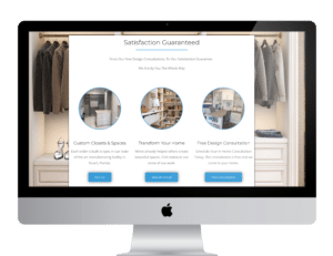 Coastal Closets Web Design Section 2