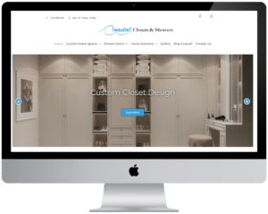 Coastal Closets website design Homepage