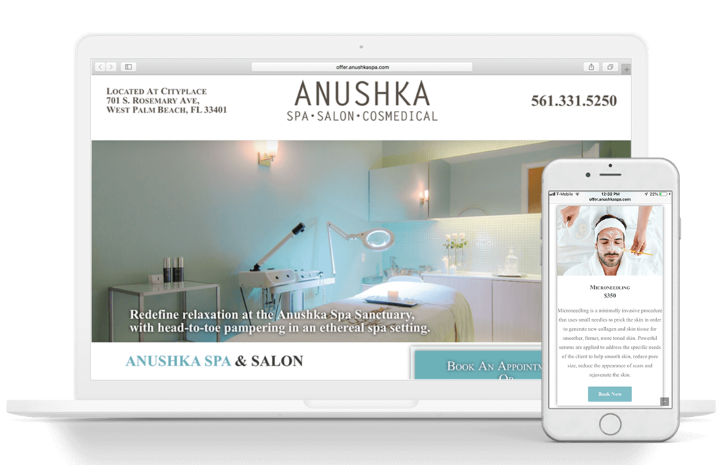 Anushka Salon, Spa, & Cosmedical Centre Web Design