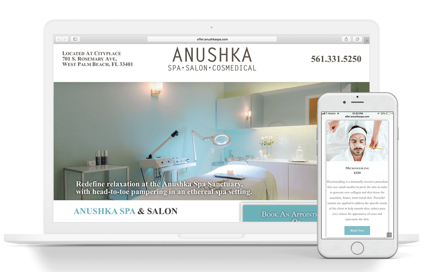 Anushka Salon, Spa, & Cosmedical Centre Web Design