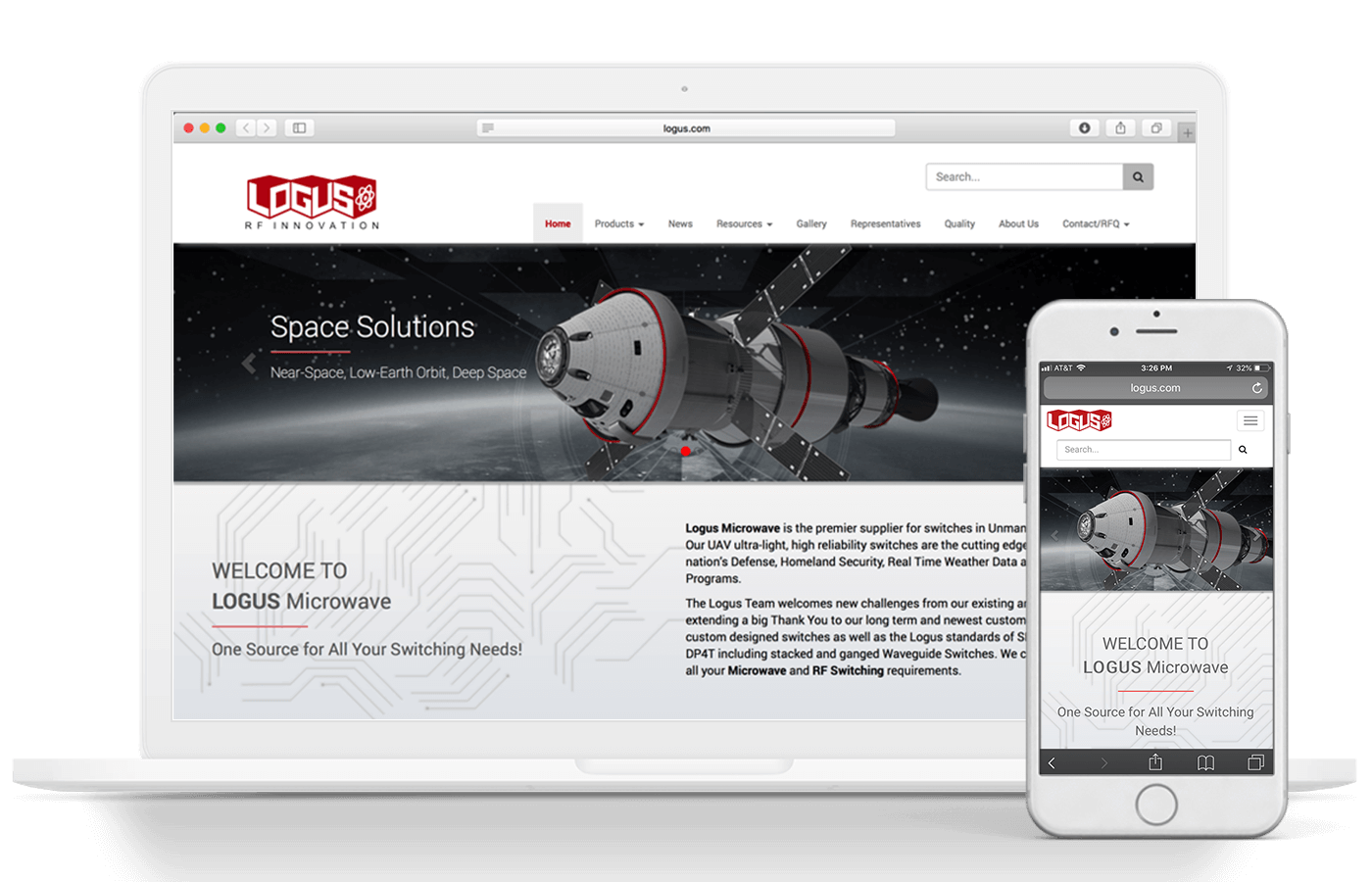Logus Manufacturing Web Design