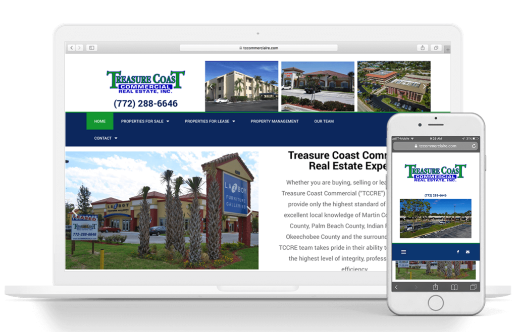 Treasure Coast Commercial Real Estate Web Design