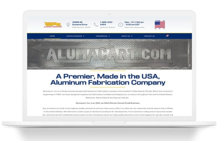 alumacart website design